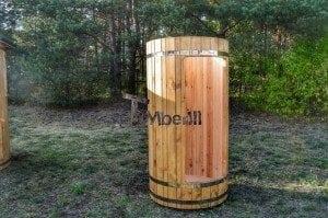 Outdoor wooden shower 14
