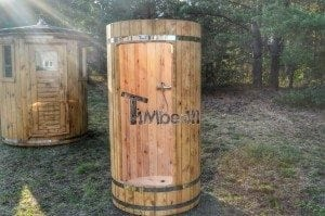 Outdoor wooden shower 16