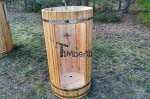 Outdoor wooden shower 2
