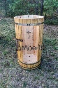 Outdoor wooden shower 3