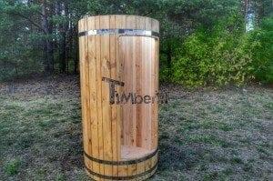Outdoor wooden shower 4
