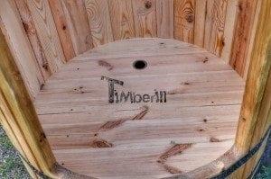 Outdoor wooden shower 6