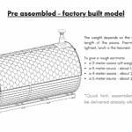 Pre assembled – factory built model for a barrel sauna