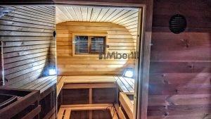 Rectangular barrel wooden outdoor sauna 14 1