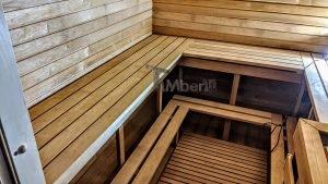 Rectangular barrel wooden outdoor sauna 16 1