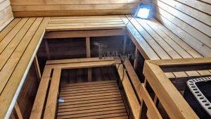 Rectangular barrel wooden outdoor sauna 17 1