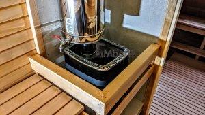 Rectangular barrel wooden outdoor sauna 19 1