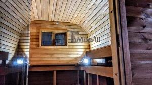 Rectangular barrel wooden outdoor sauna 21 1