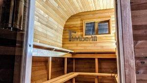 Rectangular barrel wooden outdoor sauna 22 1