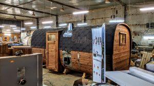 Rectangular barrel wooden outdoor sauna 28 1