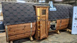 Rectangular barrel wooden outdoor sauna 3 1