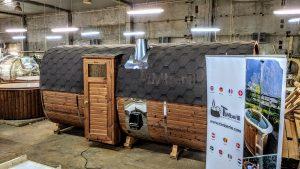 Rectangular barrel wooden outdoor sauna 30 1