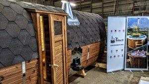 Rectangular barrel wooden outdoor sauna 4 1