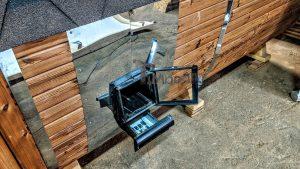 Rectangular barrel wooden outdoor sauna 5 1