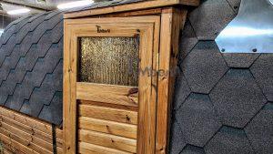 Rectangular barrel wooden outdoor sauna 9 1