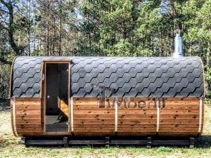 Rectangular wooden outdoor sauna 1 1