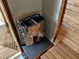 Rectangular wooden outdoor sauna 10 2