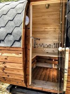 Rectangular wooden outdoor sauna 11 1