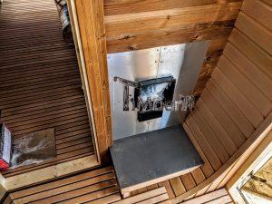 Rectangular wooden outdoor sauna 11 2
