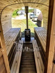 Rectangular wooden outdoor sauna 14 1