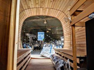 Rectangular wooden outdoor sauna 15 2