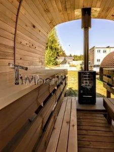 Rectangular wooden outdoor sauna 16 1
