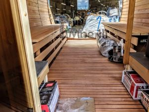 Rectangular wooden outdoor sauna 16 2