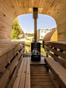 Rectangular wooden outdoor sauna 17 1