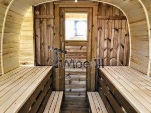 Rectangular wooden outdoor sauna 21 1