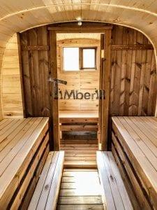 Rectangular wooden outdoor sauna 23 1