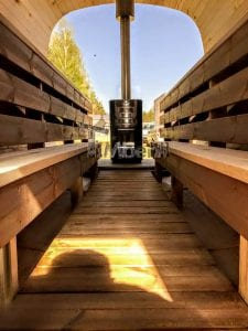 Rectangular wooden outdoor sauna 24 1