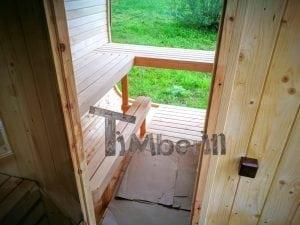 Rectangular wooden outdoor sauna 26