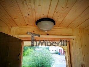 Rectangular wooden outdoor sauna 27
