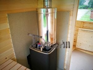 Rectangular wooden outdoor sauna 29