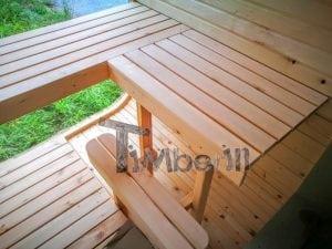 Rectangular wooden outdoor sauna 31