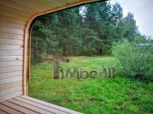 Rectangular wooden outdoor sauna 33