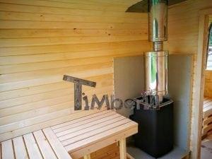 Rectangular wooden outdoor sauna 46