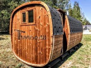 Rectangular wooden outdoor sauna 5 1