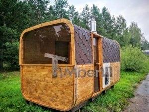 Rectangular wooden outdoor sauna 5