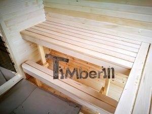 Rectangular wooden outdoor sauna 50