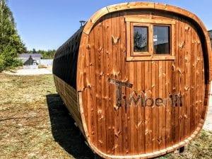 Rectangular wooden outdoor sauna 8 1