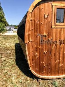 Rectangular wooden outdoor sauna 9 1