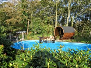Udendørs sauna tønde i træ til haven Ole Nibe Denmark 5
