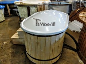 Oval hot tub for 2 persons with fiberglass liner 5