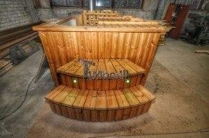 Wood burning hot tub royal square model 20