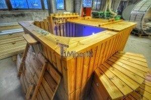 Wood burning hot tub royal square model 8