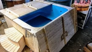 Outdoor electric hot tub timberin