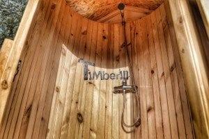 Outdoor shower with roof and door 12