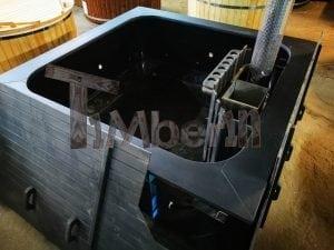 Rectangular hot tub polypropylene lined with snorkel heater 1