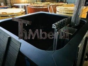 Rectangular hot tub polypropylene lined with snorkel heater 10